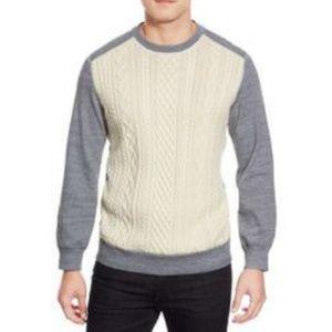 Robert Graham Dewey Cable Knit Panel Sweater